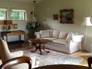 QUALITY SOFA off white linen material
