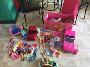 Huge Barbie lot with doll house