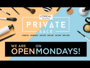 Loreal private sale tickets