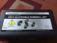 Maximuscle 20kg adjustable dumbbell set