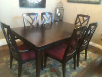 Dining room table + chairs - moving sale!