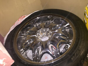 "22"" Chrome Rims & Tires (Universal Bolt Pattern)"