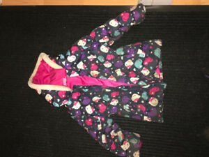 Botte et manteau automne hiver pour enfant de 4 à 6 ans