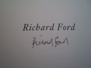 Richard Ford A Multitude of Sins SIGNED COPY (2002) Hardcover London Ontario image 3