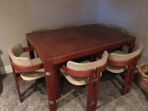 Teak Dining Table and Buffet