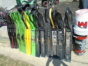 a bunch of different skiis