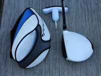 DRIVER TAYLOR MADE SLDR BLANC COMME NEUF 10.5 DEGRÉS AJUSTABLE