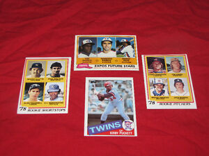 Baseball rookies (Molitor, Puckett, Trammell) and Hall of Famers