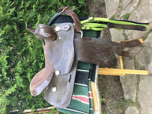 """Chocolate Brown Leather Western Saddle 16"""""""