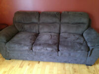 Microfibre Couch and Chair