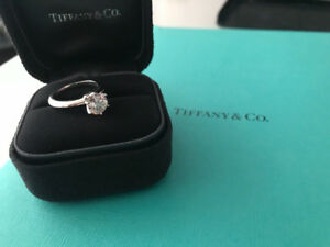 Tiffany & Co. platinum and diamond solitaire engagement ring