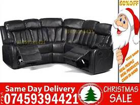 50% Off BRAND NEW 5 SEATER LEATHER RECLINER SOFA SUITE, 3+2 SET AVAILABLE IN BLACK BROWN
