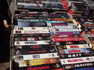 over 200 VHS movies,