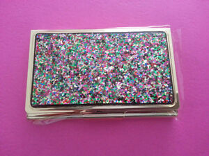 GORGEOUS Sparkling Business Card Holder Kate Spade NY!