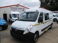 2018 18 reg VAUXHALL MOVANO L3 H2 CREW / COMBI VAN WELFARE VAN 9 SEATER MINI BUS