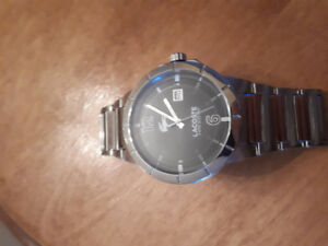 Mens lacoste wrist watch
