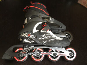 K2 Moto Speed Roller Blades Men Size 9 **like NEW Used 1 time**