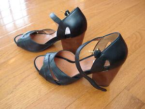 Geox black Leather sandals London Ontario image 2