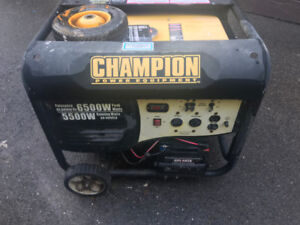 Champion Generator 6500W Peak Wats, 5500W Running Watts