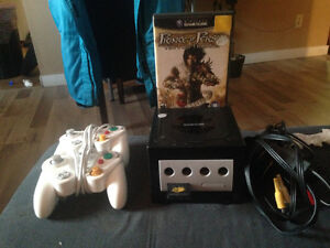 GameCube w memory card and 2 controllers