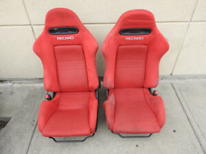 JDM ACURA RSX RED DC5 RECARO K20A TYPE-R RED SEATS RSX DC5