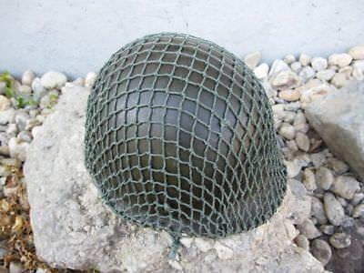 US Army M1 Steel Helmet Complete Inner Helmet+ Woodland+ Camo Net 1969 Vietnam for sale  Shipping to Ireland