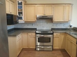 Kitchen cabinets, sink, faucets and hardward for sale