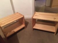 Pair of bed side units