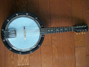Vintage Banjo Mandolin Banjolin New Skin & Strings
