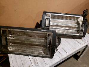TWO  INFARED GARAGE HEATERS BOTH FOR $75