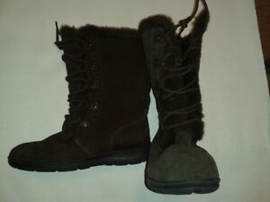 NEW --   WOMEN'S FAUX FUR LINED WINTER BOOTS