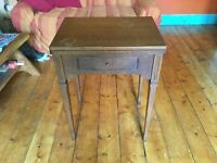 ANTIQUE/VINTAGE SEWING MACHINE TABLE