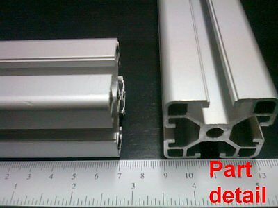 Aluminum T-slot 4040 Extruded Profile 40x40-8 Length 1200mm 48 4 Pieces Set