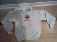 """Brand new child's hoodie saying """"Loved by a Great Dane"""""""