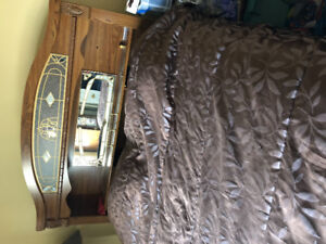 Bed Room Set Headboard, frame, Site tables, Dresser with mirror