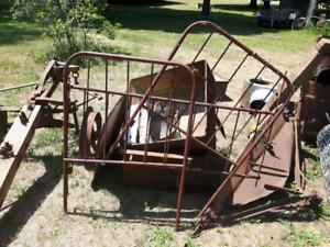 Antique twin metal bed