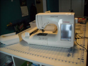 embroidery sewing machine with accesories