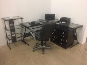 Modern Glass Office Set