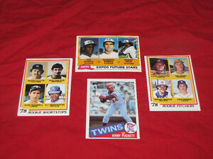 Baseball rookies (Molitor, Trammell, Raines) & Hall of Famers
