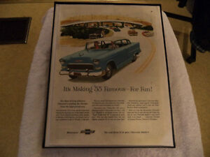 OLD CHEVY CLASSIC CAR FRAMED AD Windsor Region Ontario image 9