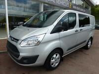 Ford Transit Custom 2.2 Tdci 125ps 290 L1H1 Trend Double Cab 6 Seat Crew Van. Cr