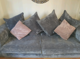 3 and 2 seater grey sofas Swede effect.