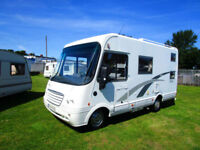 Neismann & Bischoff Arto 59G four berth A Class with garage and drop down bed