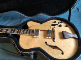 Ibanez AF105 jazz guitar with upgrades Seymour Duncan 59' +wiring+pots