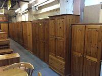 Solid pine / wood wardrobe