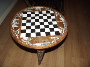 Mid East Inlaid Chess Table  $100.00 OBO