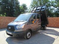 FORD TRANSIT 350 L3 DOUBLE CAB 1 WAY TIPPER 125 BHP TOOL AREA 3 SEATS