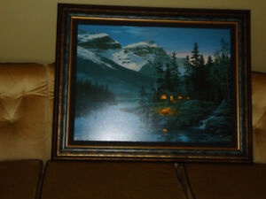 """Oil painting """"Rocky Mountain Hideaway"""" by Fred Buchwitz ."""