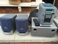 Philips hifi system with tuner/cassette/cd player