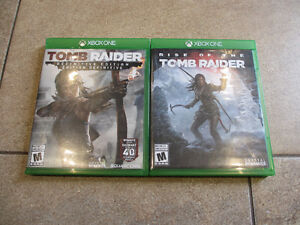 XBOX ONE GAMES-TOMB RAIDER & RISE OF THE TOMB RAIDER